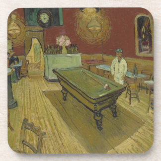 Vincent Van Gogh The Night Cafe Painting Art Work Coaster