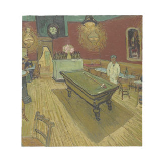 Vincent Van Gogh The Night Cafe Painting Art Work Notepad