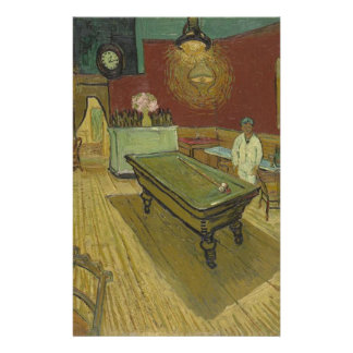 Vincent Van Gogh The Night Cafe Painting Art Work Personalized Stationery
