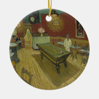 Vincent Van Gogh The Night Cafe Painting Art Work Round Ceramic Decoration