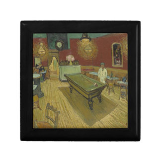 Vincent Van Gogh The Night Cafe Painting Art Work Small Square Gift Box