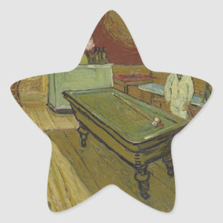 Vincent Van Gogh The Night Cafe Painting Art Work Star Sticker