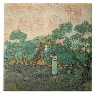 Vincent van Gogh   The Olive Pickers, Saint-Remy Large Square Tile