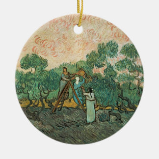 Vincent van Gogh | The Olive Pickers, Saint-Remy Round Ceramic Decoration
