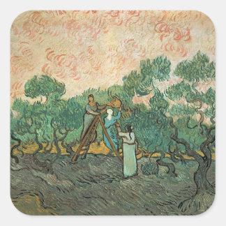 Vincent van Gogh | The Olive Pickers, Saint-Remy Square Sticker