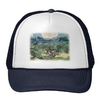 Vincent van Gogh, The Olive Trees.  Famous art Cap