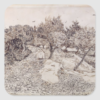 Vincent van Gogh | The Olive Trees Square Sticker