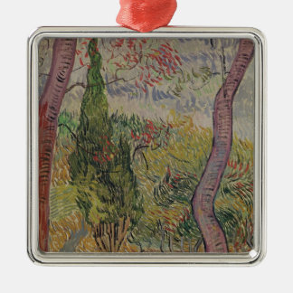 Vincent van Gogh | The Park at the Saint-Paul Silver-Colored Square Decoration
