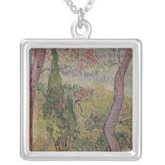Vincent van Gogh | The Park at the Saint-Paul Silver Plated Necklace