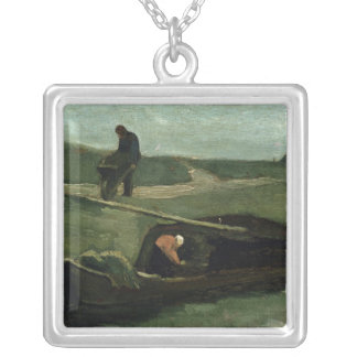 Vincent van Gogh   The Peat Boat, 1883 Silver Plated Necklace