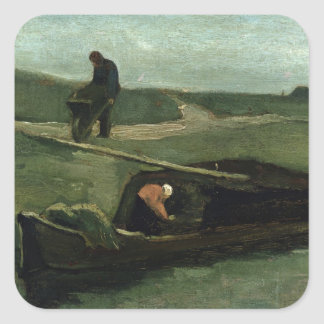 Vincent van Gogh | The Peat Boat, 1883 Square Sticker