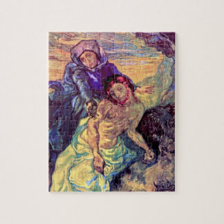 Vincent Van Gogh - The Pieta - Jesus & Virgin Mary Jigsaw Puzzle