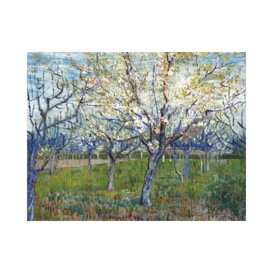 Vincent van Gogh The Pink Orchard Canvas Print