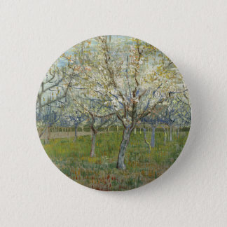 Vincent Van Gogh The Pink Orchard -Floral Painting 6 Cm Round Badge