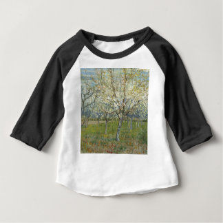 Vincent Van Gogh The Pink Orchard -Floral Painting Baby T-Shirt