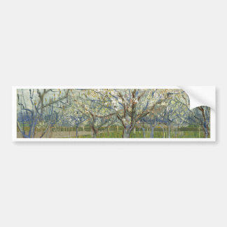 Vincent Van Gogh The Pink Orchard -Floral Painting Bumper Sticker