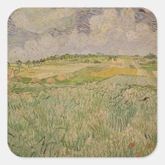 Vincent van Gogh | The Plain at Auvers, 1890 Square Sticker