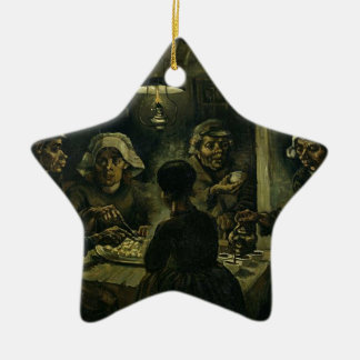 Vincent Van Gogh The Potato Eaters Painting. Art Ceramic Star Decoration