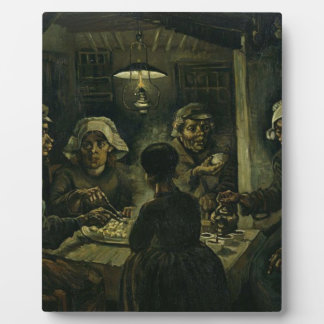 Vincent Van Gogh The Potato Eaters Painting. Art Display Plaque