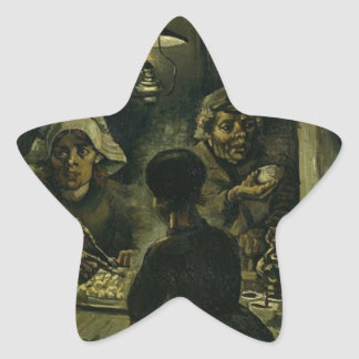 Vincent Van Gogh The Potato Eaters Painting. Art Star Sticker