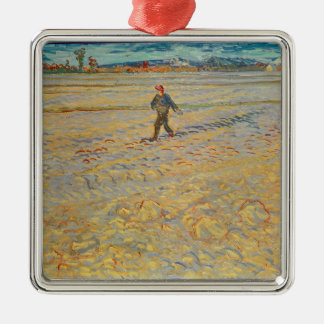 Vincent van Gogh | The Sower, 1888 Silver-Colored Square Decoration