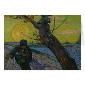 Vincent Van Gogh - 'The Sower' Greetings card. Card