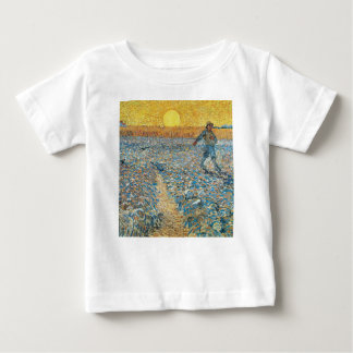 Vincent Van Gogh The Sower Painting Art Baby T-Shirt