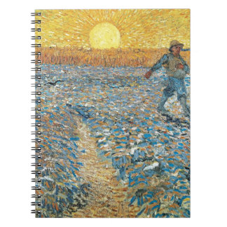 Vincent Van Gogh The Sower Painting Art Notebooks