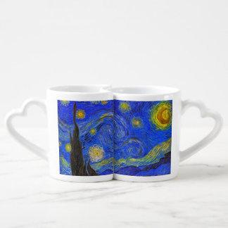 Vincent van Gogh - The Starry Night 1889 Lovers Mug Sets