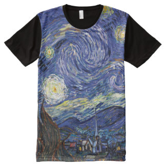 Vincent Van Gogh - The Starry Night Fine Art All-Over Print T-Shirt