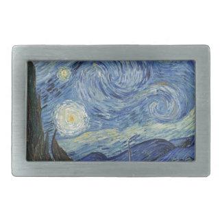 Vincent van Gogh | The Starry Night, June 1889 Rectangular Belt Buckle