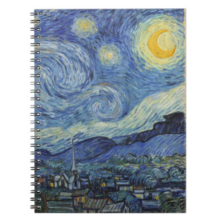 Vincent van Gogh | The Starry Night, June 1889 Spiral Note Book