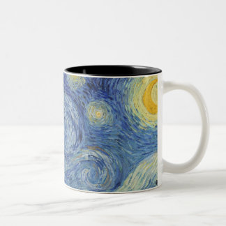 Vincent van Gogh | The Starry Night, June 1889 Two-Tone Coffee Mug
