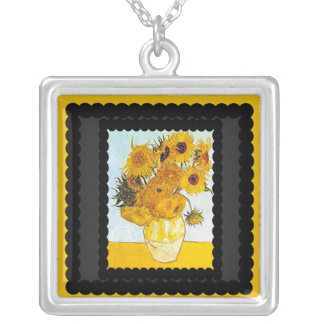 Vincent Van Gogh The Vase Enhanced Necklace