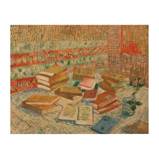 Vincent van Gogh | The Yellow Books, 1887 Wood Wall Art