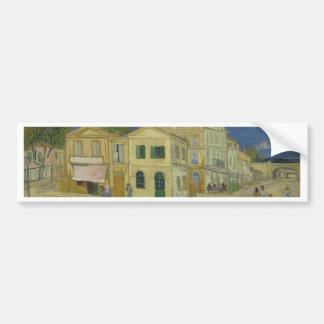 Vincent Van Gogh The Yellow House Painting Bumper Sticker