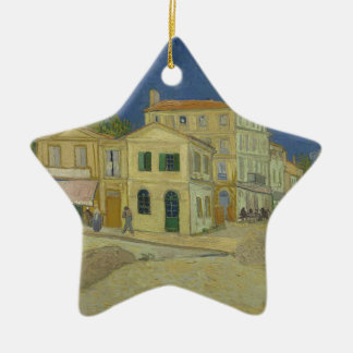 Vincent Van Gogh The Yellow House Painting Christmas Ornament