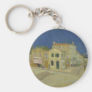 Vincent Van Gogh The Yellow House Painting Key Ring
