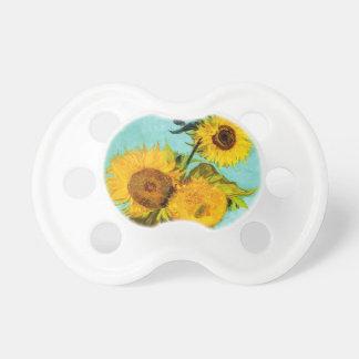 Vincent Van Gogh Three Sunflowers Baby Pacifier