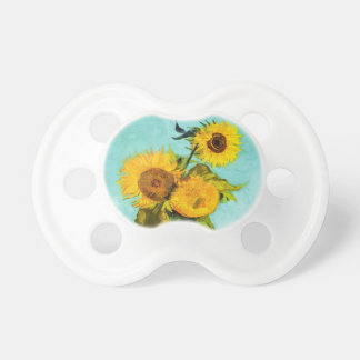 Vincent Van Gogh Three Sunflowers In A Vase Baby Pacifier