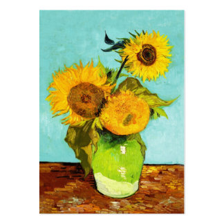 Vincent Van Gogh Three Sunflowers In A Vase Business Card Template