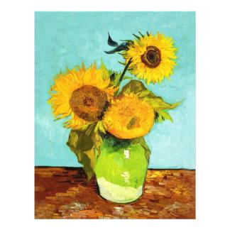 Vincent Van Gogh Three Sunflowers In A Vase 21.5 Cm X 28 Cm Flyer