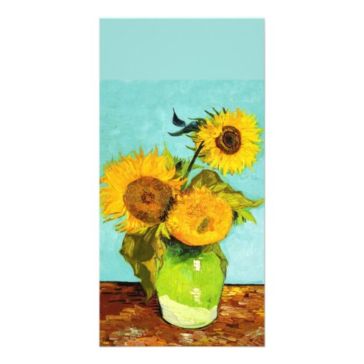 Vincent Van Gogh Three Sunflowers In A Vase Photo Card