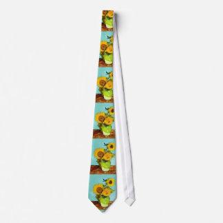 Vincent Van Gogh Three Sunflowers In A Vase Tie