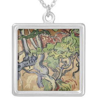 Vincent van Gogh | Tree roots, 1890 Silver Plated Necklace