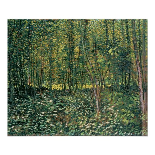 Vincent van Gogh | Trees and Undergrowth, 1887 Poster