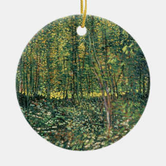 Vincent van Gogh | Trees and Undergrowth, 1887 Round Ceramic Decoration