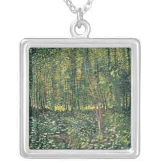 Vincent van Gogh   Trees and Undergrowth, 1887 Silver Plated Necklace