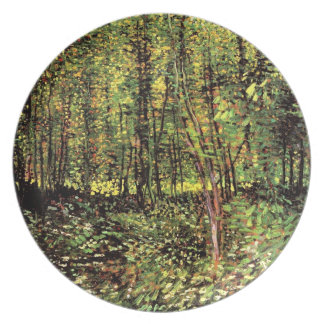 Vincent Van Gogh - Trees And Undergrowth Fine Art Dinner Plate