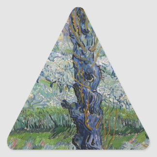 Vincent Van Gogh - Trees Painting Artwork Triangle Sticker